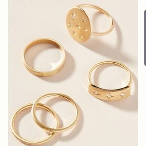 Anthropologie Bethany Ring Set